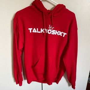 Red Talkyoshit Hoodie UNISEX